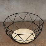 Table-en-fil-de-fer-Base-en-bois-panier-de-rangement-Simple-maison-vider-Fruits-moderne
