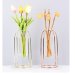 Style-nordique-verre-fer-Simple-Art-Vase-forme-g-om-trique-Vase-luxe-1-ensemble-d