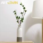 Vase-en-c-ramique-de-Style-japonais-Double-couleur-blanc-et-gris-Design-Simple-Vase-d