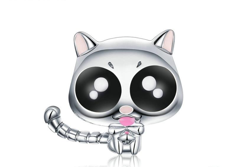 Charm chat malicieux en argent