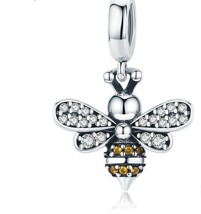 charm abeille argent 925