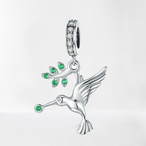 Charm pendentif colibri