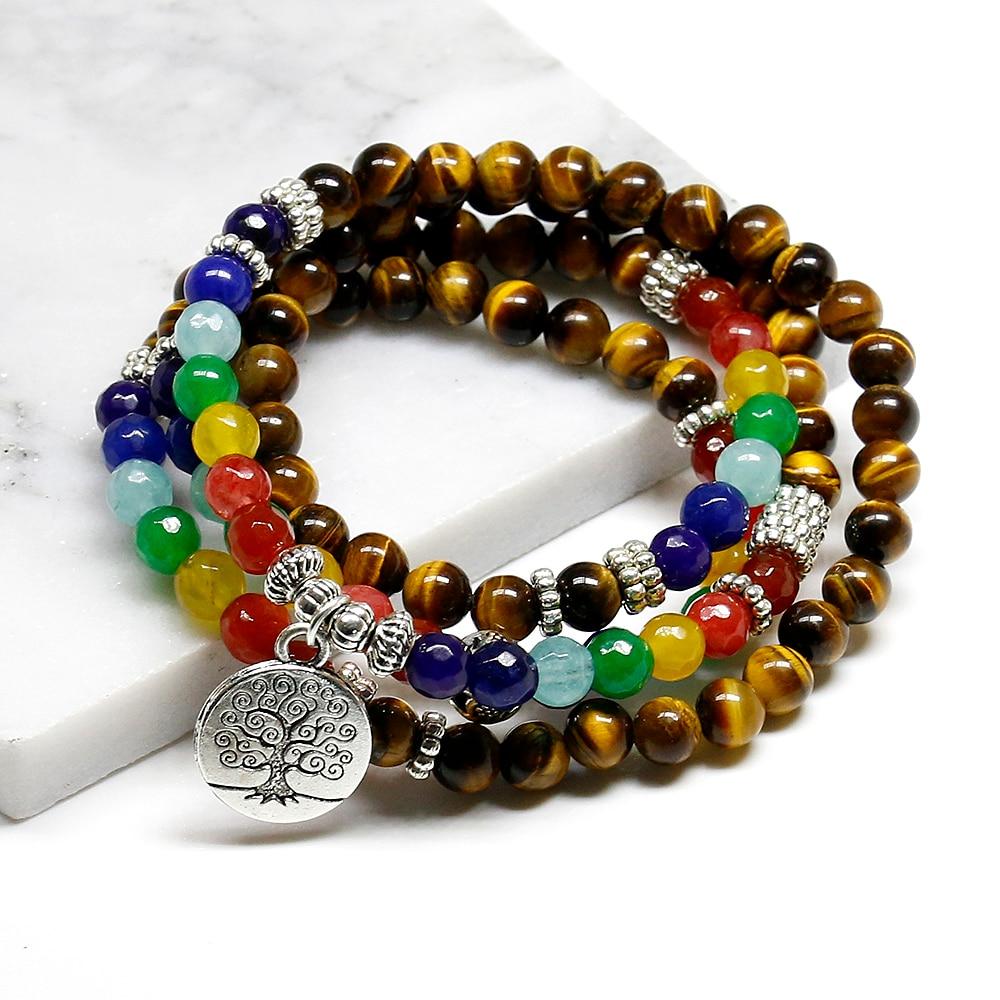 Bracelet 7 Chakras arbre de vie