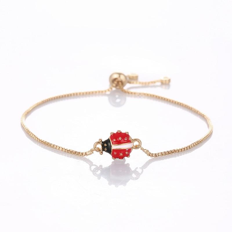 Bracelet coccinelle couleur or