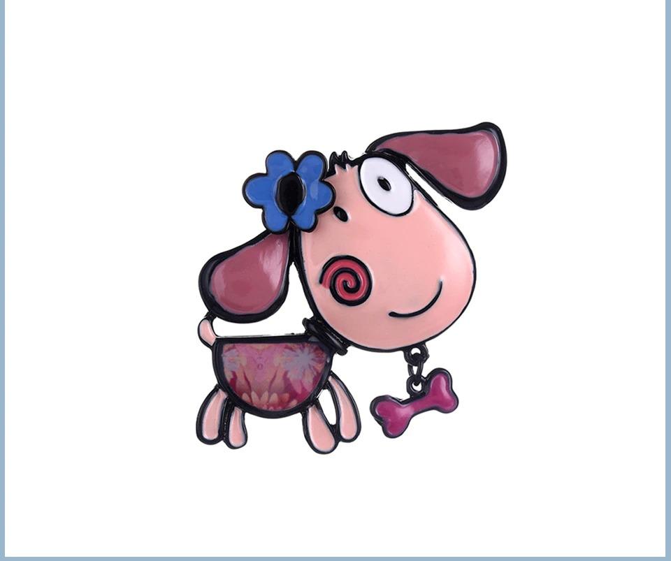 Broche chien coquet