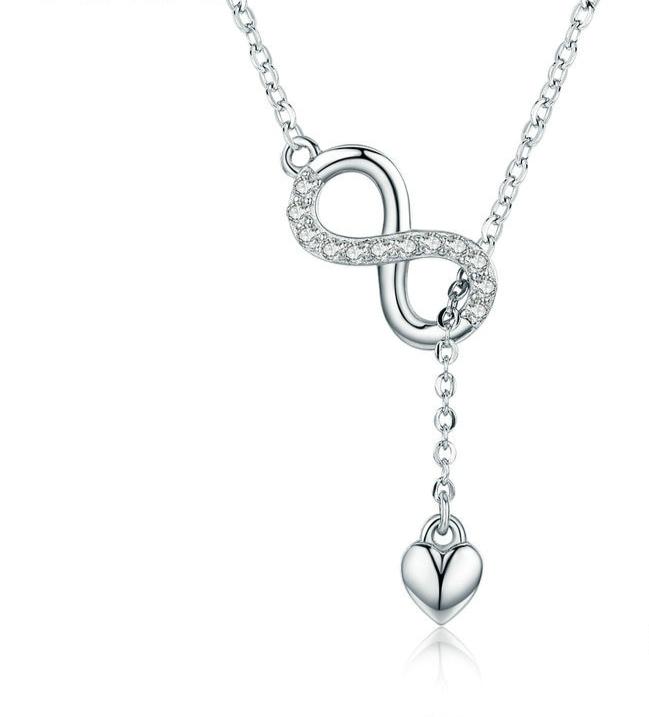 Collier pendentif amour infini en argent