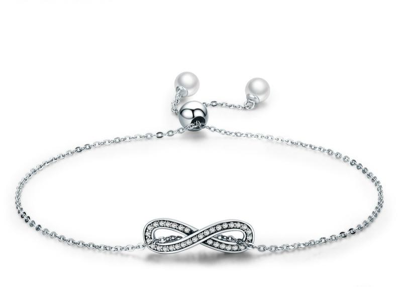 Bracelet symbole infini en argent