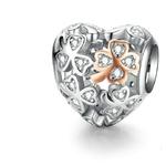 charm amour coeur en argent