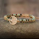 Arbre-Bracelets-porte-bonheur-Africaine-Jasper-Cha-ne-Bracelets-Tress-s-Yoga-L-amiti-Amant-Bracelet