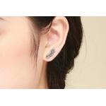 boucles d-oreilles fleurs argent