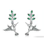 Boucles d-oreilles colibri argent