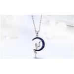 collier pendentif lune et fée