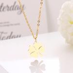 collier trèfle à quatre feuilles or