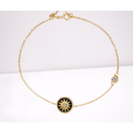 Bracelet etoile or breloque