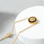 bracelet medaillon étoile