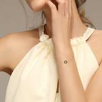 bracelet rose des vents or