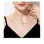 collier pendentif branche marguerite