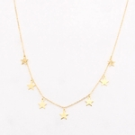 Collier étoiles or