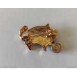 broche chat en cuivre