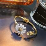 Bracelet bangle fleur