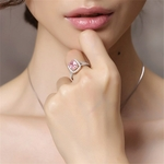 Bague pierre rose quartz
