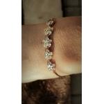 bracelet fleurs coulissant