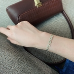 bracelet fleurs doré