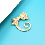 broche chat cuivre