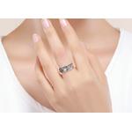 bague jonc anneau de fleurs amour