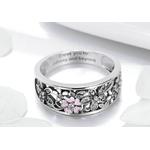 Bague jonc anneau fleurs romantique