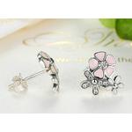 Boucles-d-oreilles bouquet de fleurs argent