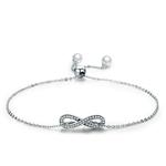 bracelet symbole infini amour amitié argent