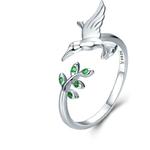 bague oiseau colibri symbolique